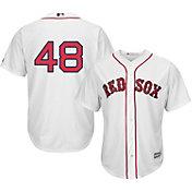 Majestic Men's Replica Boston Red Sox Pablo Sandoval #48 Cool Base Home White Jersey