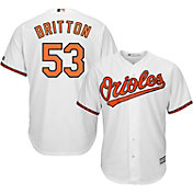 Majestic Men's Replica Baltimore Orioles Zach Britton #53 Cool Base Home White Jersey