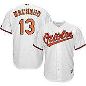 Majestic Men's Replica Baltimore Orioles Manny Machado #13 Cool Base Home White Jersey