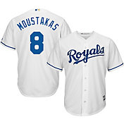 Majestic Men's Replica Kansas City Royals Mike Moustakas #8 Cool Base Home White Jersey