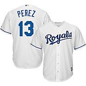 Majestic Men's Replica Kansas City Royals Salvador Perez #13 Cool Base Home White Jersey