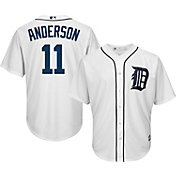 Majestic Men's Replica Detroit Tigers Sparky Anderson #11 Cool Base Home White Jersey
