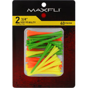 Maxfli Pronged 2.75'' High-Visibility Golf Tees – 40-Pack