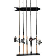 Organized Fishing Oak Finish Modular Wall Rack