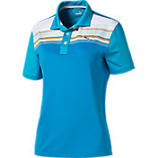 Puma Boys' Key Stripe Golf Polo