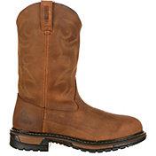 "Rocky Men's Original Ride Branson Roper 11"" Waterproof Work Boots"
