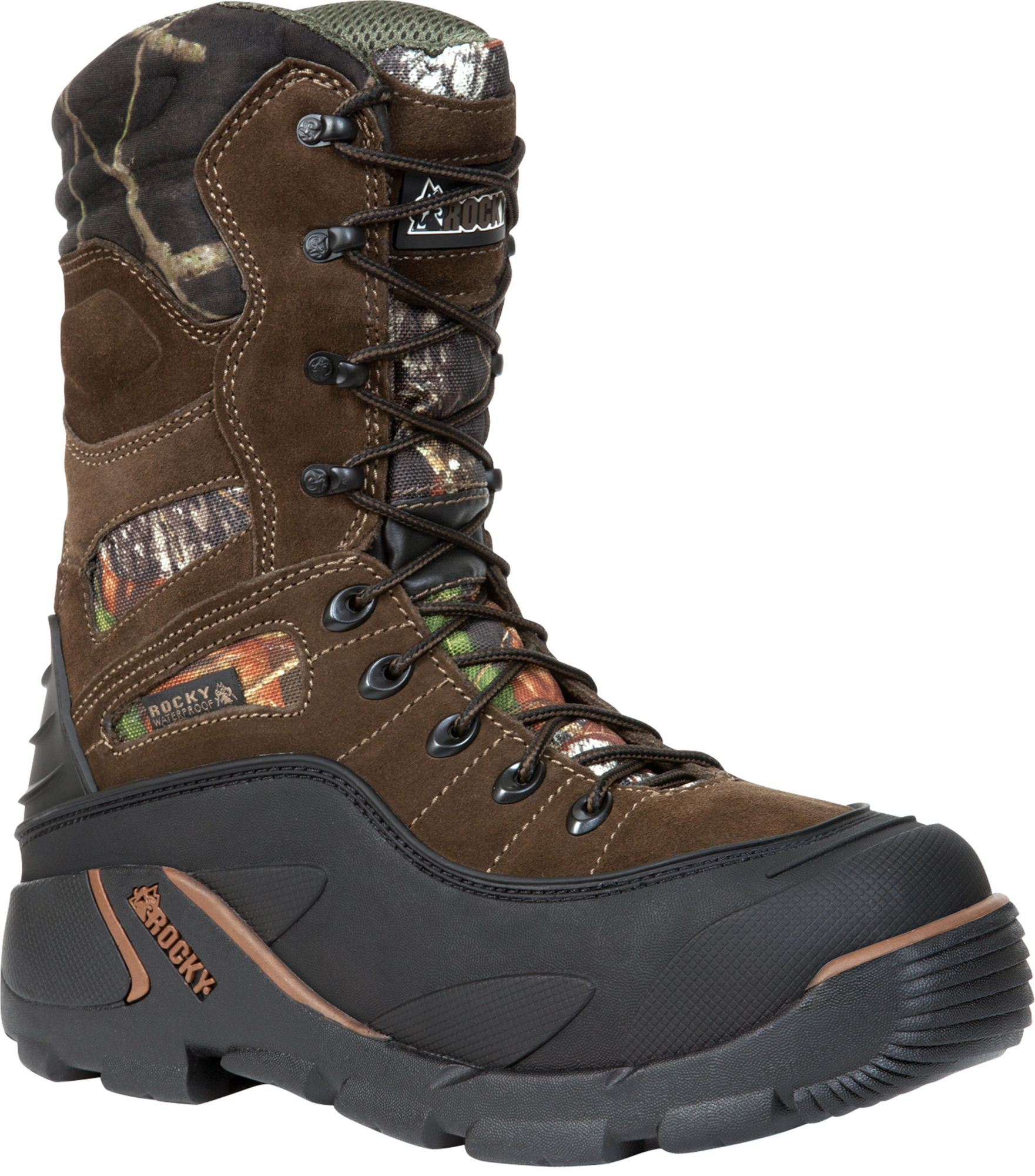 Rocky Men's BlizzardStalker PRO Mossy Oak 1200g Waterproof Winter ...