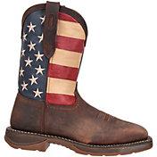"""Durango Men's Rebel American Flag 11"""" Waterproof Steel Toe Work Boots"""