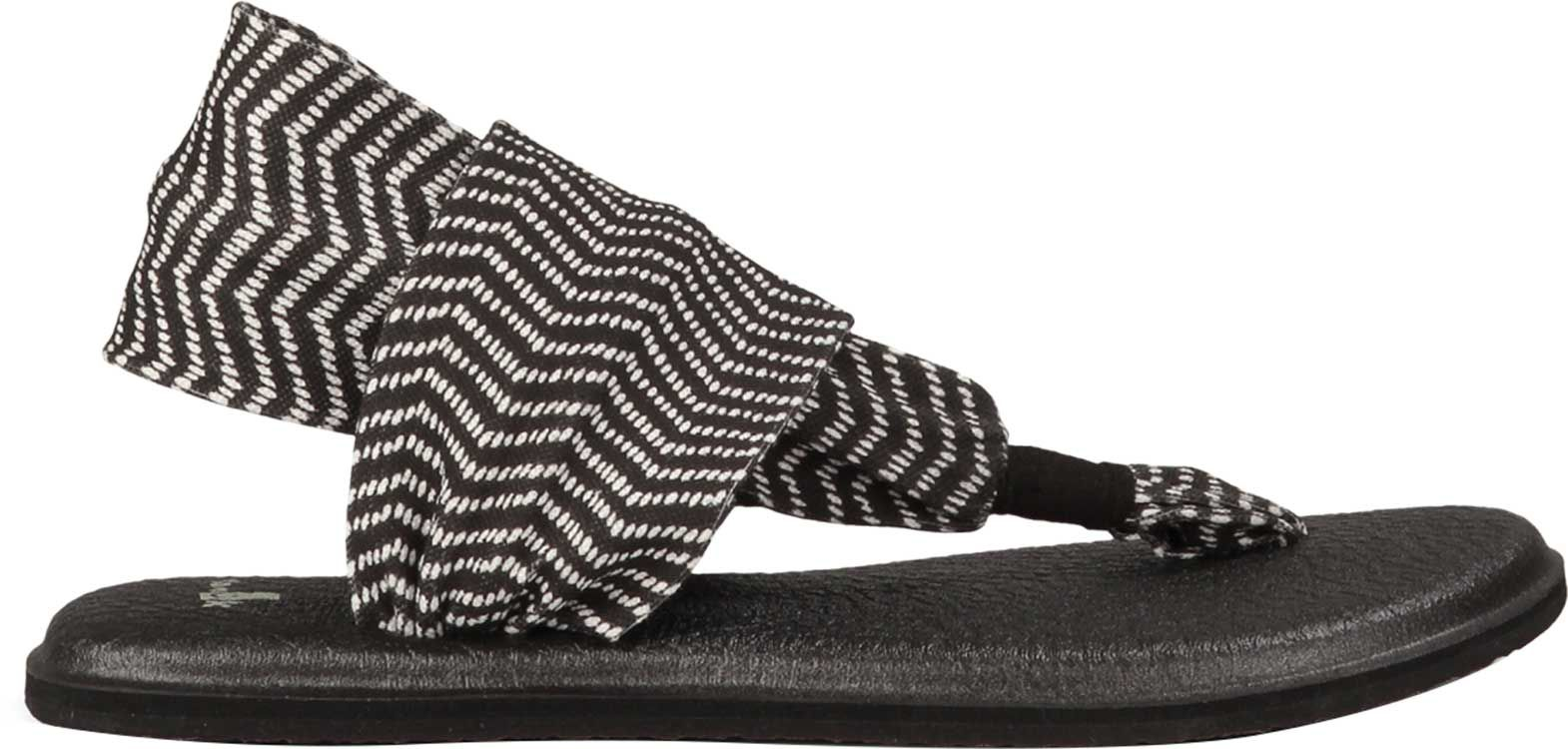 Black enclosed sandals - Product Image Sanuk Women S Yoga Sling 2 Sandals Black Natural Congo
