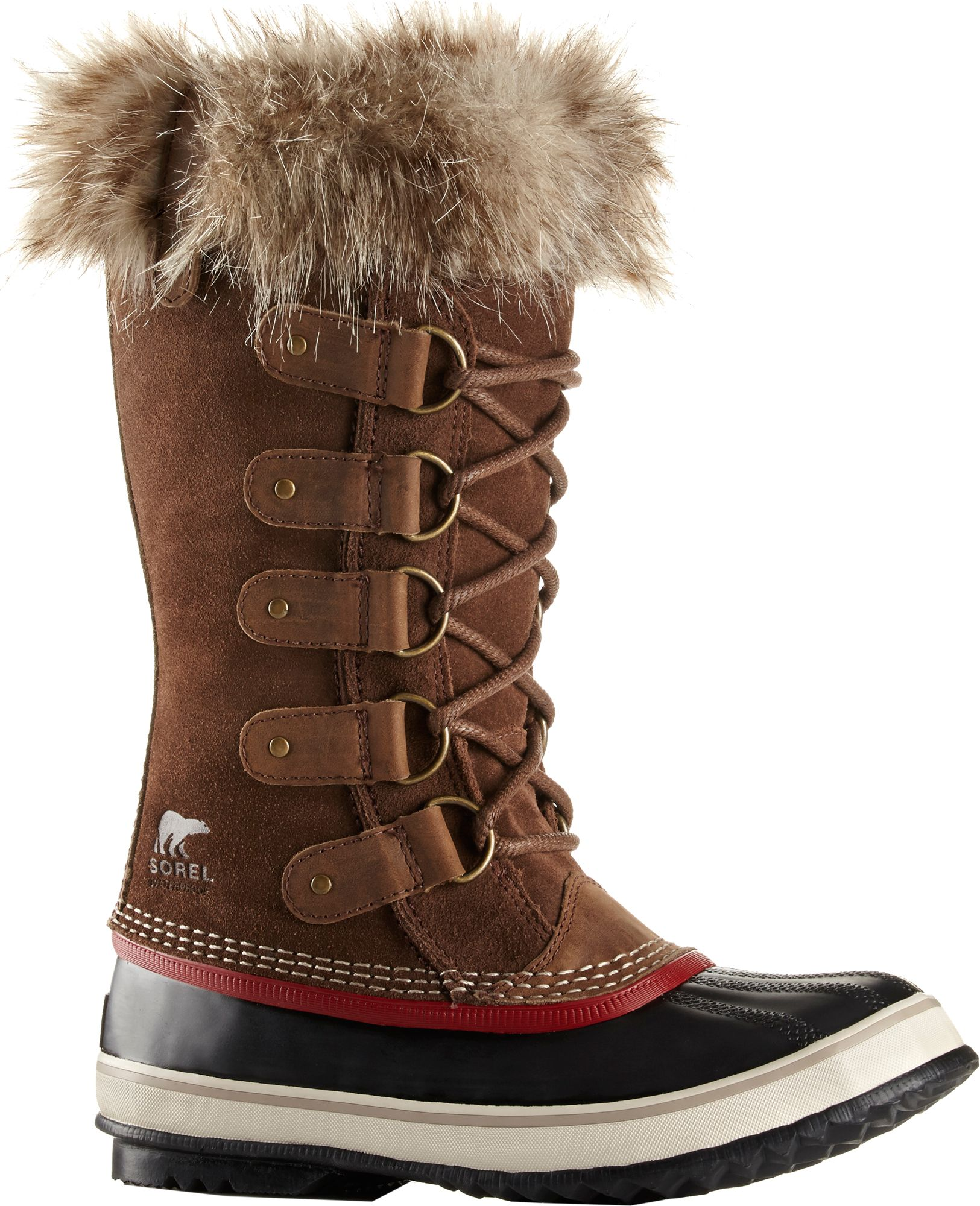 Sorel Suede Shearling-Trimmed Snow Boots