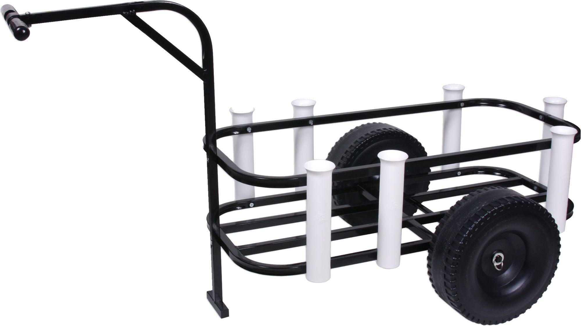 Folding fishing carts with wheels fishing carts and wagons for Pier fishing cart