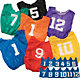 BSN Sports Adult Lightweight Numbered Practice Pinnies - 12 Pack