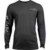 Salt Life Men's Captain SLX UVapor Performance Long Sleeve Shirt