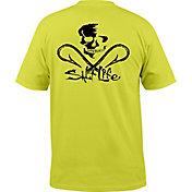 Salt Life Men's Neon Skull and Hooks Pocket T-Shirt
