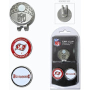 Team Golf Tampa Bay Buccaneers Two-Marker Cap Clip