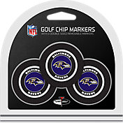 Team Golf Baltimore Ravens Poker Chips Ball Markers - 3-Pack