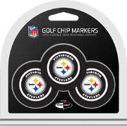 Team Golf Pittsburgh Steelers Poker Chips Ball Markers - 3-Pack