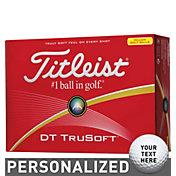 Titleist DT TruSoft Optic Yellow Personalized Golf Balls