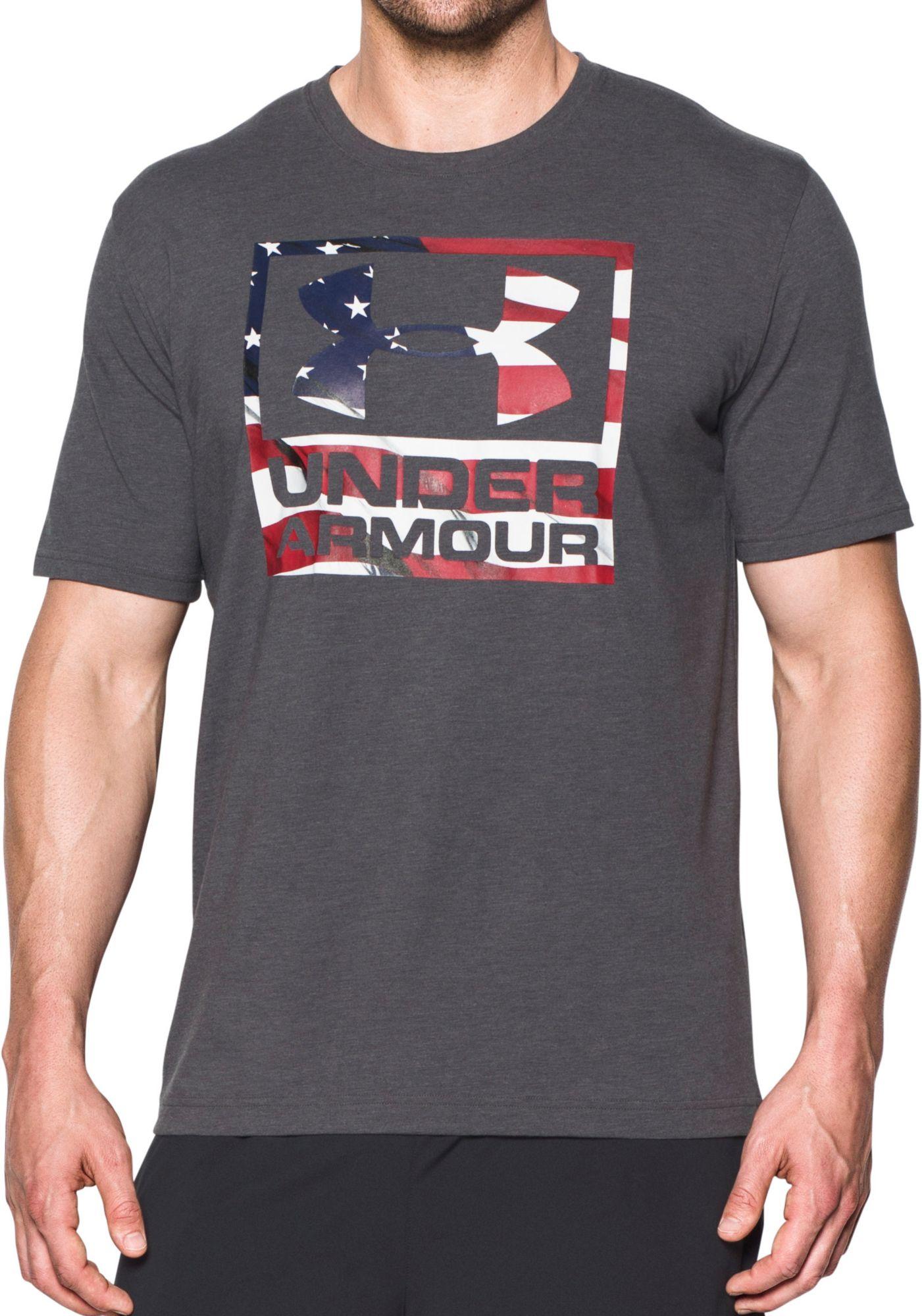 under armour american flag. under armour men\u0027s big flag logo t-shirt american a