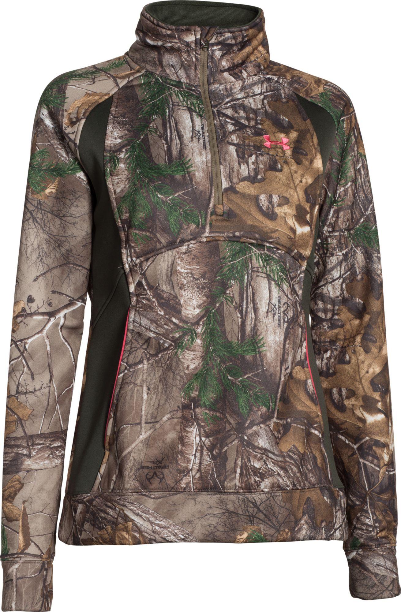 under armour quarter zip womens. under armour women\u0027s camo fleece quarter zip jacket womens