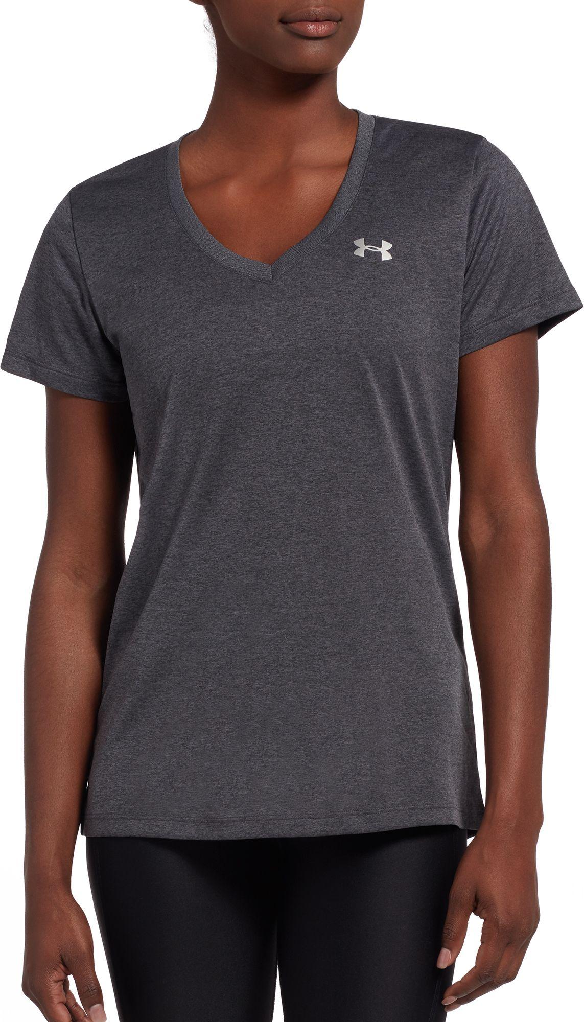 Under Armour Women's Tech V-Neck Short Sleeve Shirt | DICK'S ...