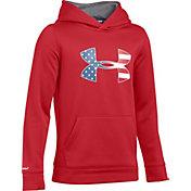 Under Armour Boys' Armour Fleece Big Flag Logo Hoodie