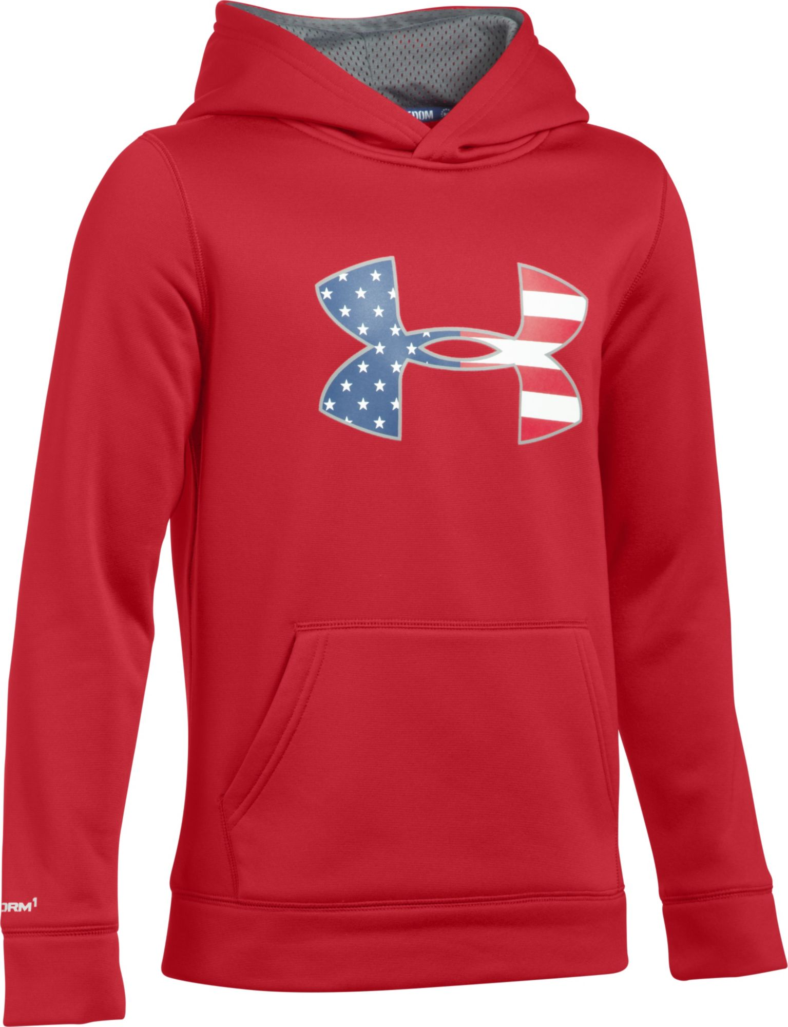 under armour zip up. under armour boys\u0027 fleece big flag logo hoodie zip up o