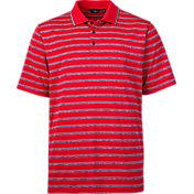 Walter Hagen Men's USA Heather Stripe Golf Polo