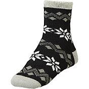 Yaktrax Women's Cozy Cabin Snowflakes Socks