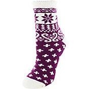 Yaktrax Women's Cozy Nordic Crew Cabin Socks