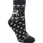 Yaktrax Women's Cozy Cabin Deer Crew Socks