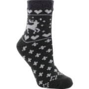 Yaktrax Women's Cozy Cabin Moose Crew Socks