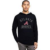 '47 Men's Atlanta Braves Navy Downfield Long Sleeve Shirt