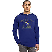 '47 Men's Milwaukee Brewers Blue Downfield Long Sleeve Shirt