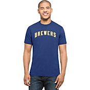 '47 Men's Milwaukee Brewers MVP Splitter Royal T-Shirt