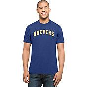 '47 Men's Milwaukee Brewers MVP Splitter Royal T-Shirt