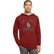 '47 Men's St. Louis Cardinals Red Downfield Long Sleeve Shirt