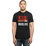 '47 Men's Miami Marlins Black Club T-Shirt