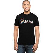 '47 Men's Miami Marlins MVP Splitter Black T-Shirt