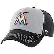 '47 Men's Miami Marlins McGraw Clean Up Grey/Black Adjustable Hat