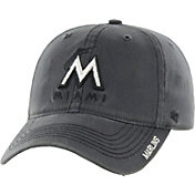 '47 Men's Miami Marlins Nightfall Closer Grey Fitted Hat