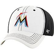 '47 Men's Miami Marlins Cooler MVP White/Black Adjustable Hat