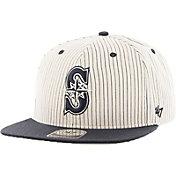 '47 Men's Seattle Mariners Woodside Captain Pinstripe Adjustable Hat