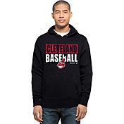 '47 Men's Cleveland Indians Navy Headline Pullover Hoodie