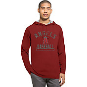 '47 Men's Los Angeles Angels Red Downfield Long Sleeve Shirt
