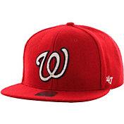 '47 Men's Washington Nationals Captain Red Adjustable Snapback Hat