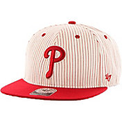 '47 Men's Philadelphia Phillies Woodside Captain Pinstripe Adjustable Hat