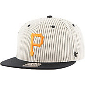 '47 Men's Pittsburgh Pirates Woodside Captain Pinstripe Adjustable Hat