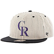 '47 Men's Colorado Rockies Woodside Captain Pinstripe Adjustable Hat