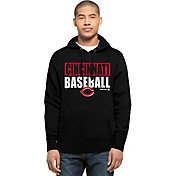 '47 Men's Cincinnati Reds Black Headline Pullover Hoodie